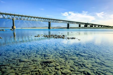 westland: Bridge over Haast River, Westland, New Zealand