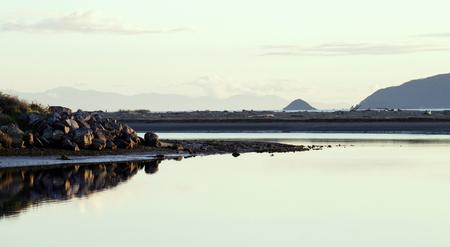 wellington: Waikanae Estuary, Kapiti, Wellington, New Zealand. Stock Photo