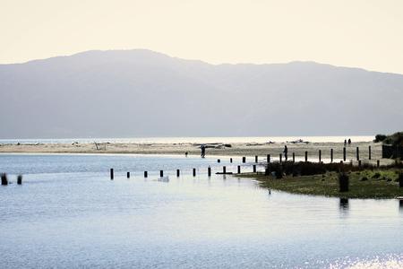 estuary: Waikanae Estuary, Kapiti, New Zealand. Stock Photo