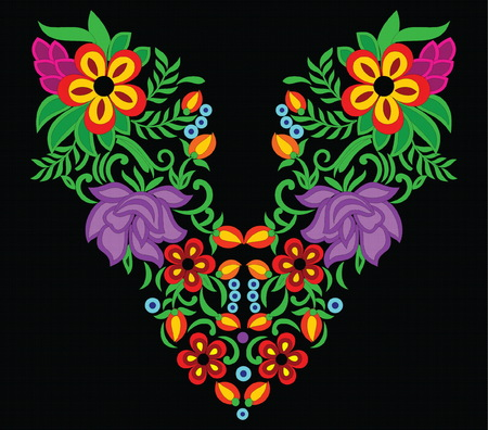 Beautiful colorful folk art Illustration