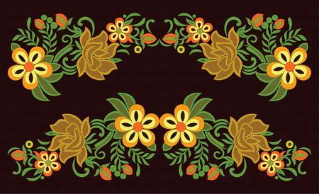 Beautiful abstract folk art pattern, vector illustration.
