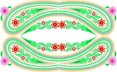 Floral folk art design. Illustration