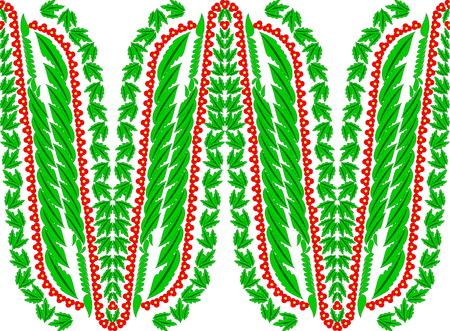 Beautiful folk art pattern illustration.