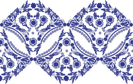 Beautiful abstract folk art pattern, vector illustration. Imagens - 91796211