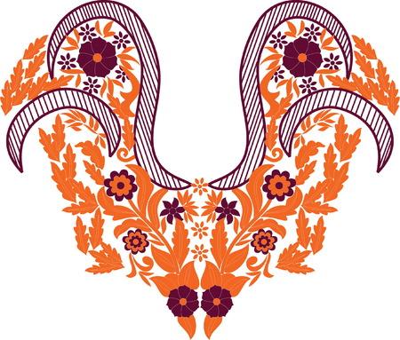 beautiful folk art Vector illustration.