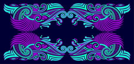 Beautiful folk art vector design. 일러스트
