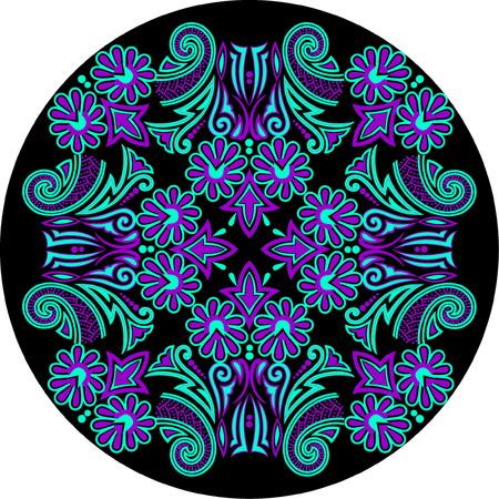 Beautiful folk art ornament pattern