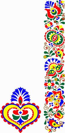 beautiful folk art, floral decoration