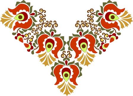hermoso arte popular, decoración floral