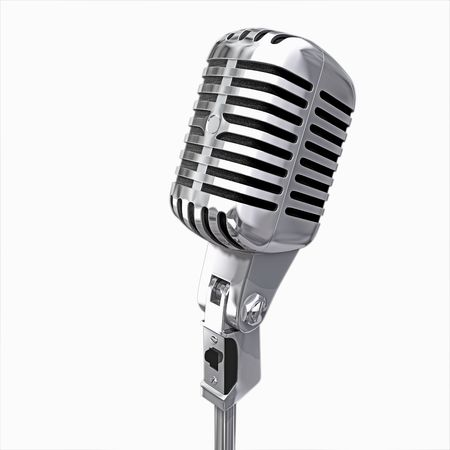 old microphone isolated photo