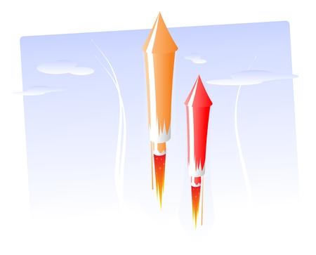 로켓 불꽃 놀이
