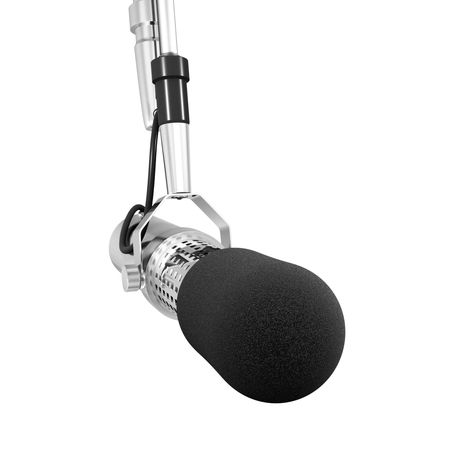 shure: microphone isolated Stock Photo