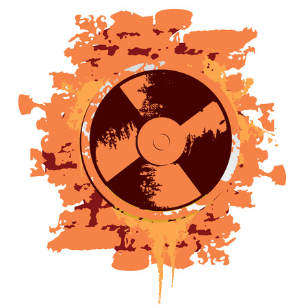 industrial fan cooler old dirt vector illustration Stock Vector - 3205613