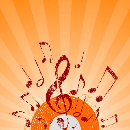 note rays orange
