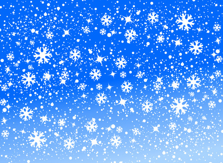 blizzard: blue snow background vector illustration