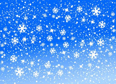 blue snow background vector illustration