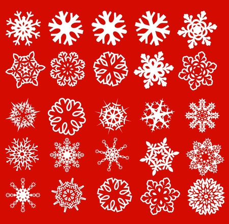 flakes: snowflake clipart Illustration