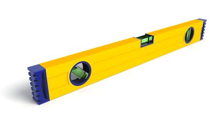 justness: Spirit level 3d illustration