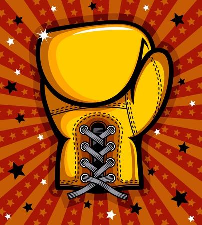 boxing equipment: Boxing glove illustration
