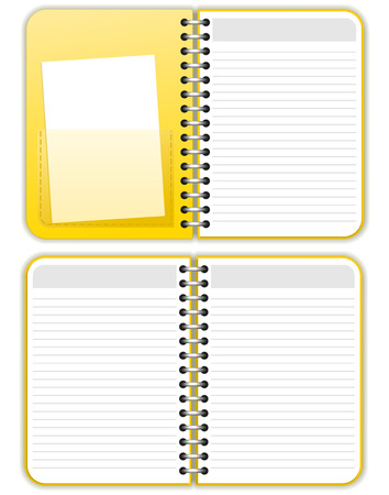 yellow notebook: Notebook Illustration