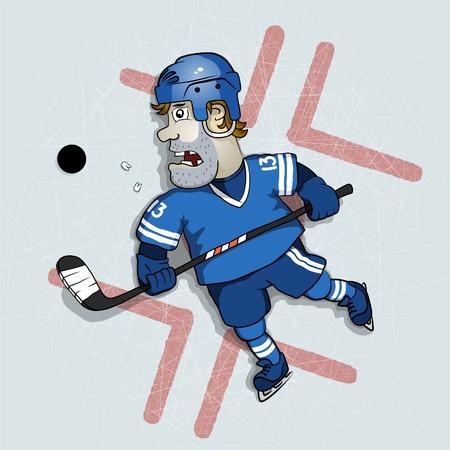 slap: Hockey player Illustration