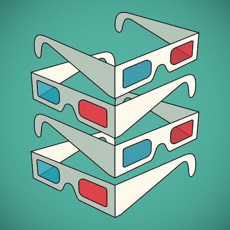 3D glasses: 3d glasses vector illustration