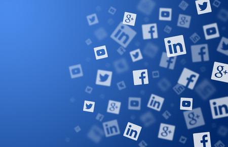 digital media: Social networks background