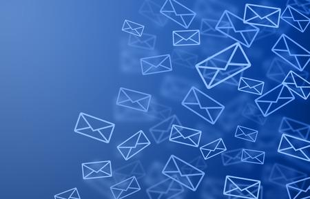 青い郵便 写真素材