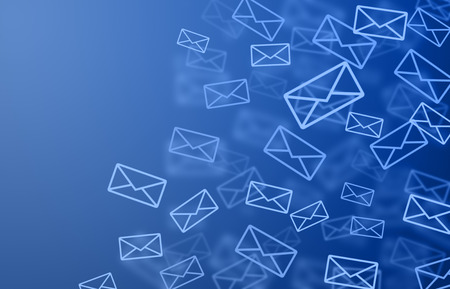 email symbol: Blue mail Stock Photo