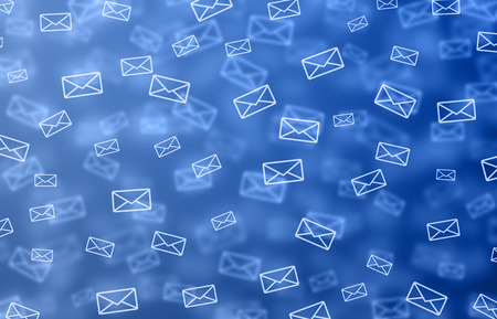 send email: Blue mail illustration Stock Photo