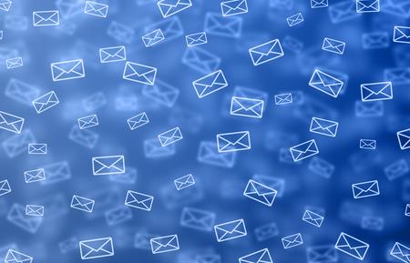Blue mail illustration Stock Photo