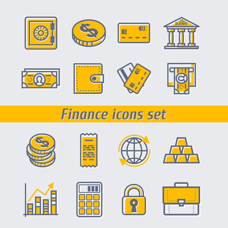 icons set: Finance icons set Illustration