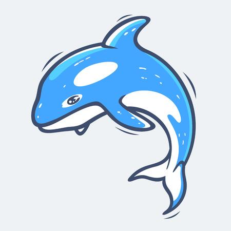 grampus: Grampus sea life illustration