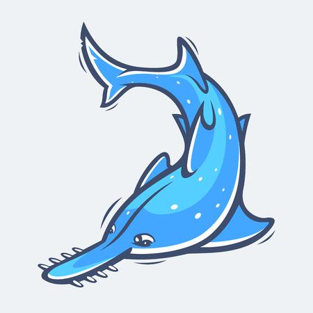 sea saw: Saw fish sea life illustration Illustration