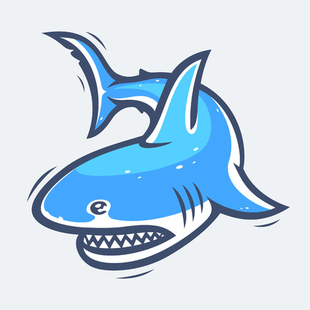 underwater fishes: Shark sea life illustration Illustration