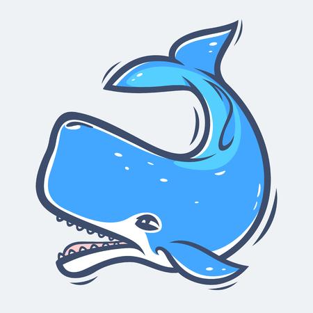 고래, 바다 생활 일러스트레이션