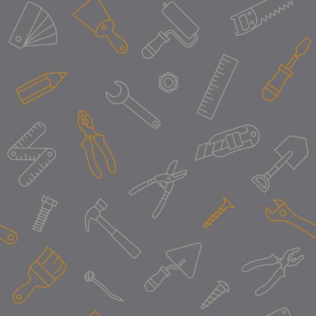 작업 도구 원활한 패턴 그림 일러스트
