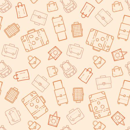 가방 및 서류 가방 원활한 패턴 그림 일러스트