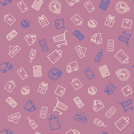 쇼핑 할인 판매 원활한 패턴 그림