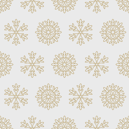 gold snowflakes: Gold snowflakes on a black background pattern seamless illustration