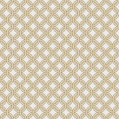 골드 체인 갑옷 원활한 패턴 일러스트 레이션