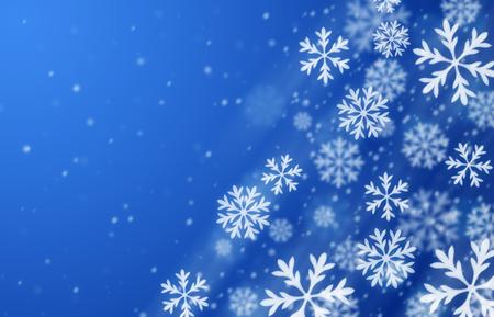 night background: Blue blizzard background. Winter season illustration. Stock Photo