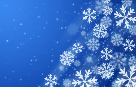 snow background: Blue snow background. Winter season illustration. Stock Photo