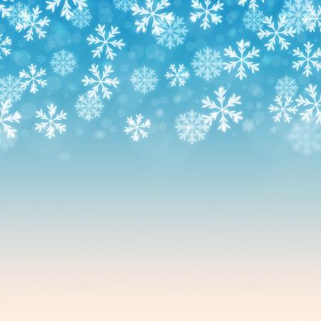 겨울 눈 블리자드 배경 일러스트 레이 션 블루