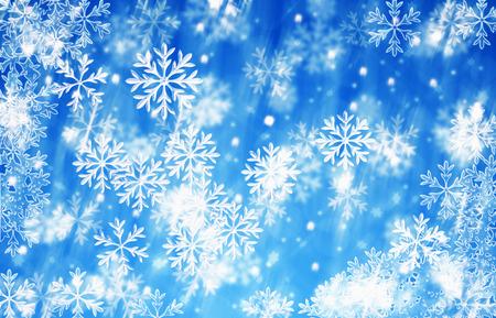 메리 크리스마스와 행복 한 새 해 배경 푸른 얼음 눈송이