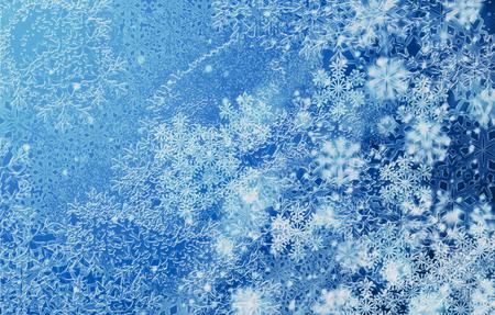 겨울 서 리 패턴 파란색입니다. 계절 배경 일러스트 레이 션.