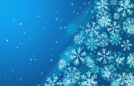 푸른 눈 배경입니다. 겨울 시즌 배경 일러스트 레이 션.