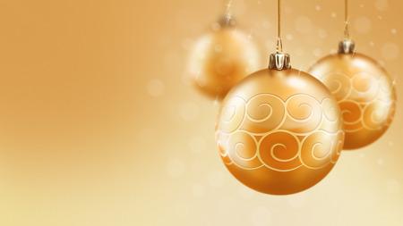 크리스마스와 새 해 골드 공 배경 디자인 서식 파일