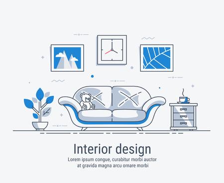 Interior design illustration.