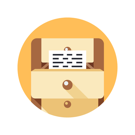 Documents simple icon. Flat modern vector icon for web design. 일러스트